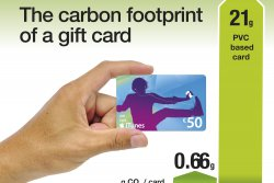 Switching from plastic gift cards to paperboard ones is an easy way for companies to reduce their environmental footprint. © Iggesund<br /><br /> (photo: )