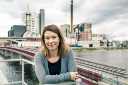 "<p>""From the 1960s and onwards we have steadily reduced our local environmental impact even though our production has increased,"" comments Anna Mårtensson, Environmental Manager at Iggesund Paperboard's Swedish production facility, Iggesund Mill. © Iggesund</p> (photo: Photographer: Per Trane)"