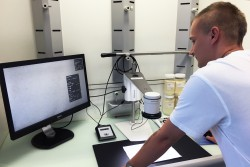 <p>Swiss Mill using Speck Counter app for TAGARNO digital microscopes</p>