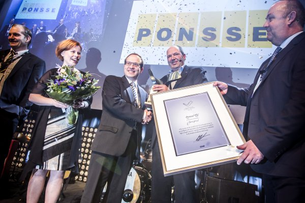 <p>Ponsse wins Swedish Steel Prize 2015. ©SSAB</p>