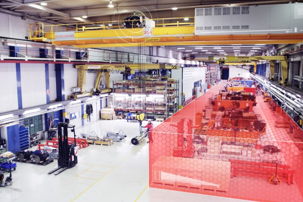 <p>Protected Areas allow for defining protected zones, where the crane is not allowed to enter. © Konecranes</p>