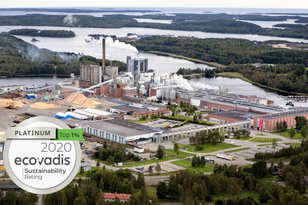 <p>Iggesund Paperboard's Swedish Mill is a top performer among the more than 65,000 assessments made by EcoVadis. The mill has been awarded Platinum level, which means they are among the top 1 percent of all companies that have been assessed.</p>