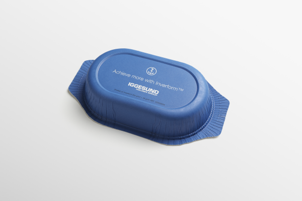 <p><em>Inverform<sup>TM</sup> – a new, sustainable paperboard alternative to plastic food trays</em></p> (photo: )
