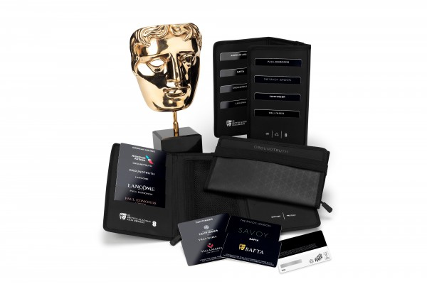 <p>Caption: BAFTA's environmentally friendly gifting wallet containing Green Gift Cards® made of Invercote was given to the nominees and presenters at the annual awards at the beginning of February.</p>