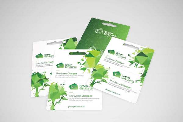 Green Gift Cards :: Digitally printed gift cards on thicker paperboard